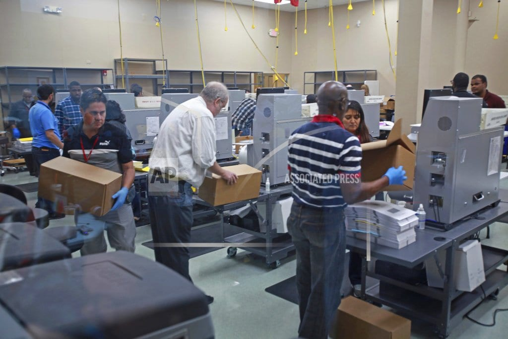 FORT LAUDERDALE, Fla.   The Latest: Officials ask for look into mail-in information