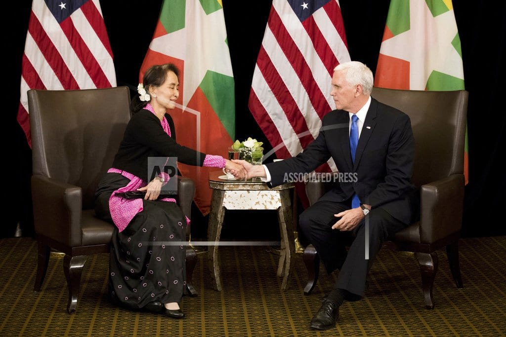 SINGAPORE | Pence says Myanmar's handling of Rohingya 'without excuse'