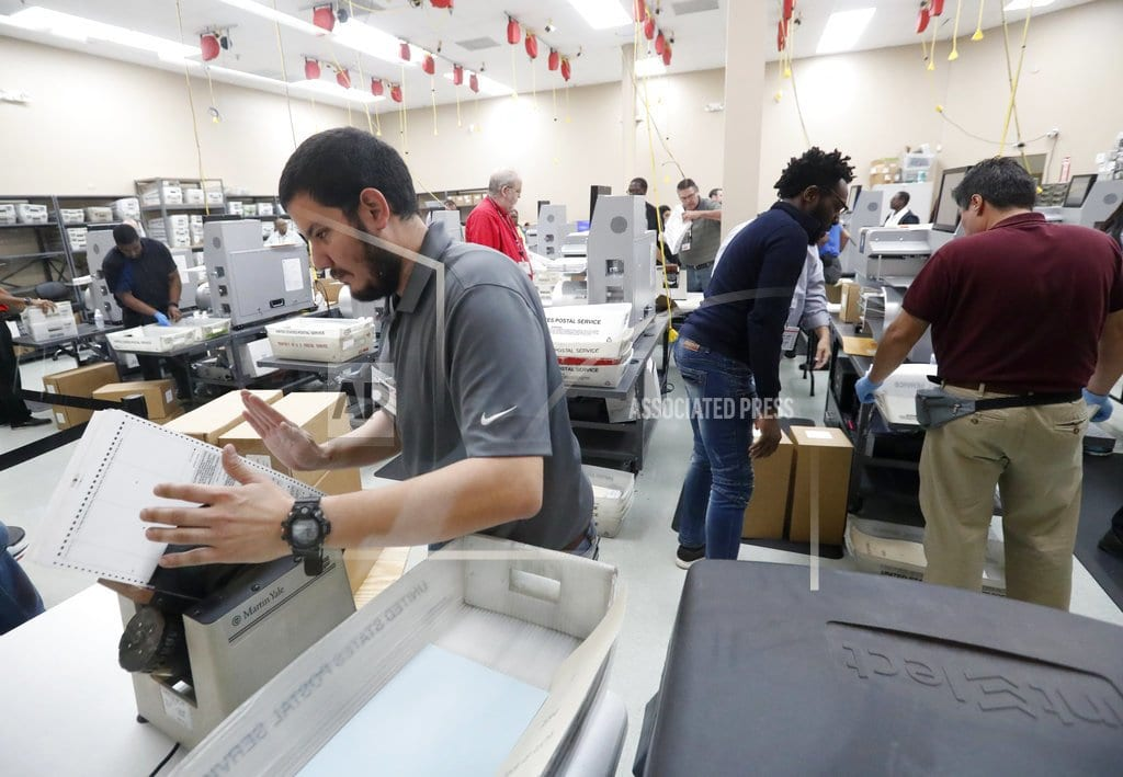 FORT LAUDERDALE, Fla.  The Latest: Palm Beach may not meet Florida recount deadline