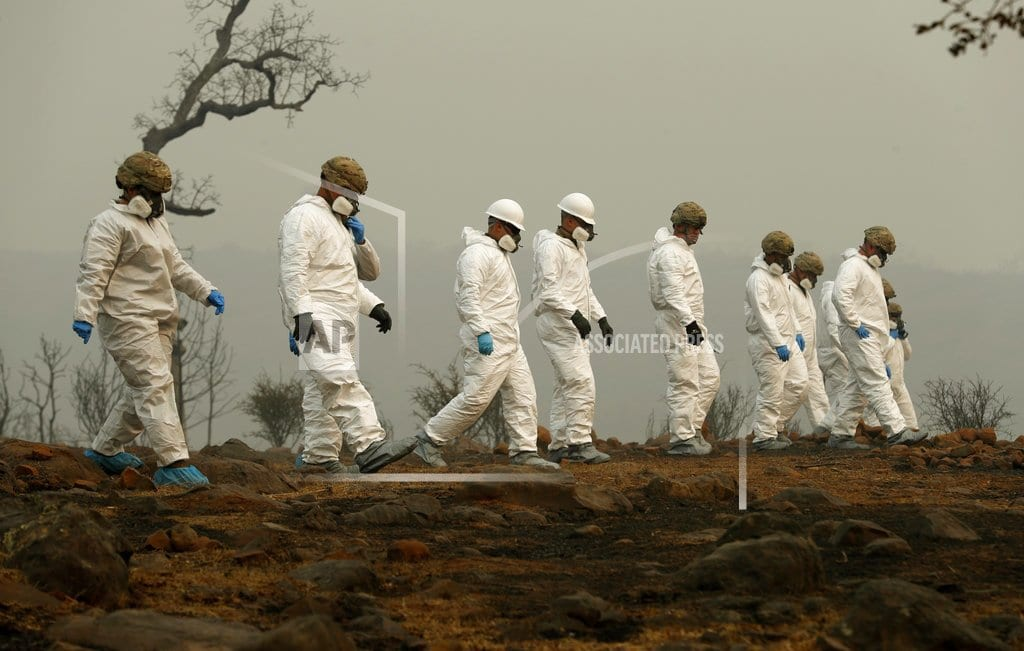 CHICO, Calif     The Latest: Outbreak of norovirus at wildfire shelter