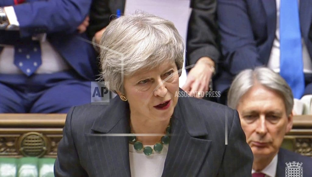LONDON  The Latest: Cyprus: Brexit deal gives safeguards on UK bases