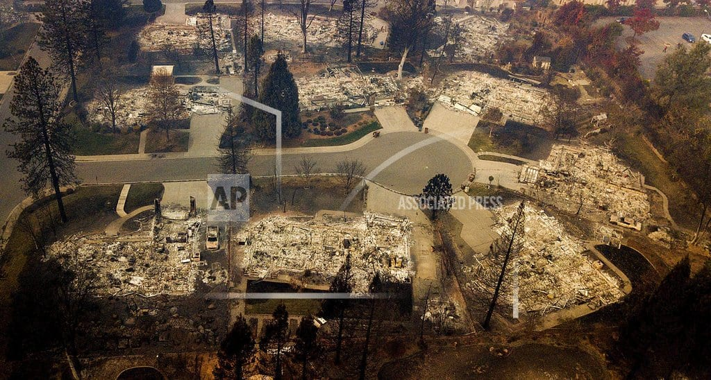 MAGALIA, Calif. | The Latest: Trump to meet with California wildfire victims