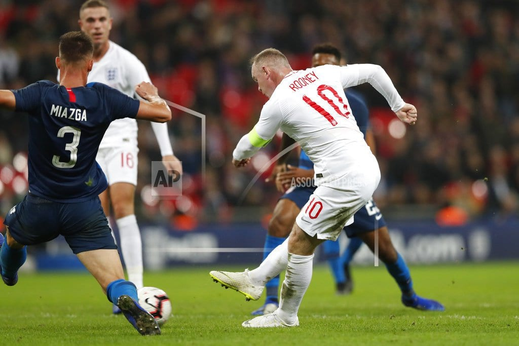 LONDON | No goal for Wayne Rooney in 120th, final England appearance