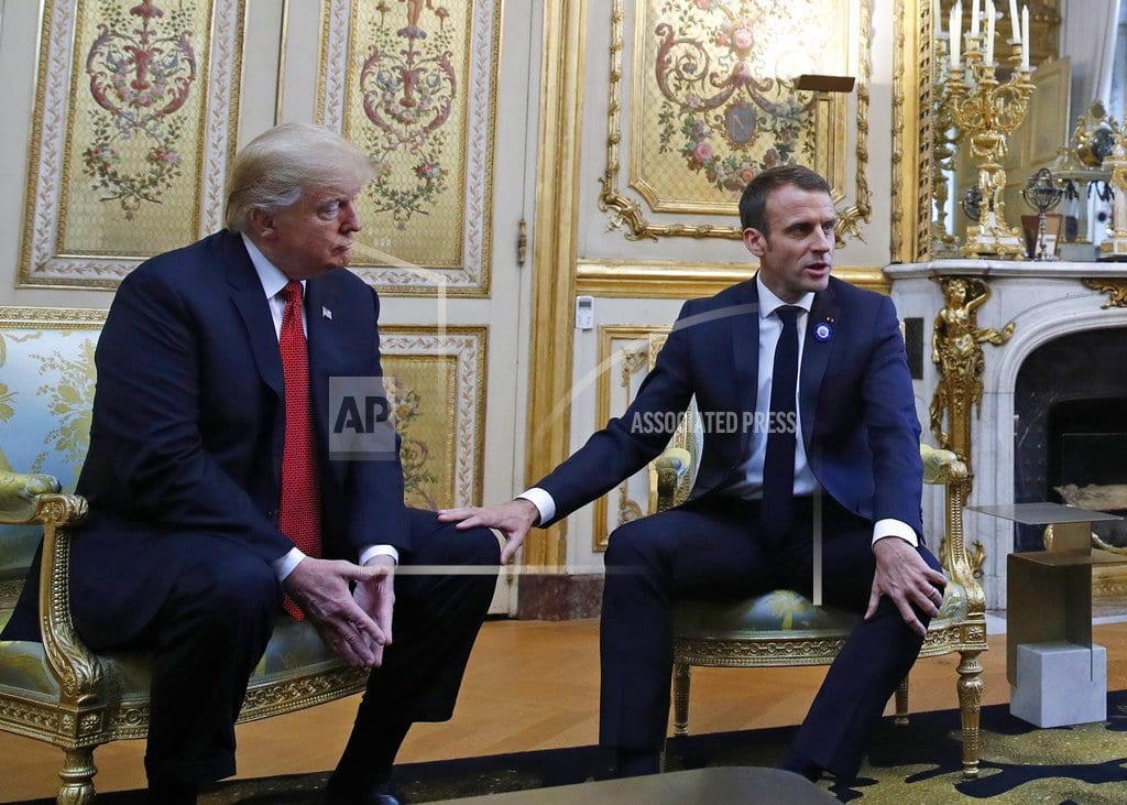 WASHINGTON | AP FACT CHECK: Trump puts fighting words in Macron's mouth