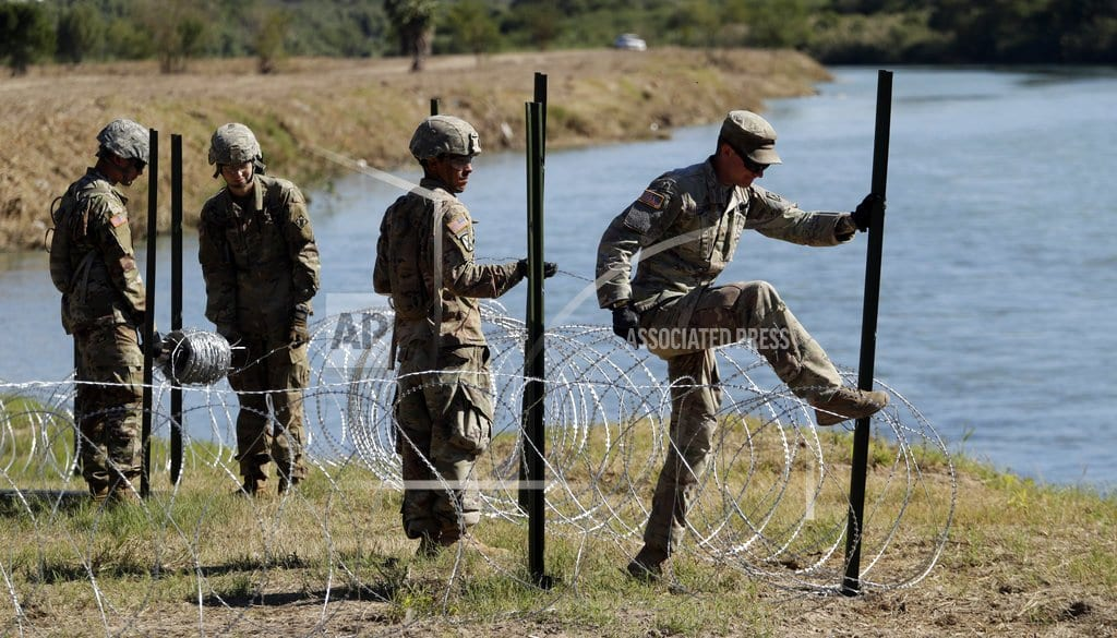 SAN DIEGO  | Migrants won't see armed US soldiers on border