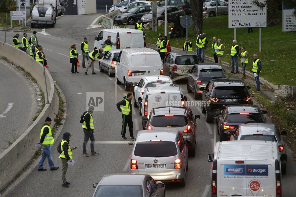 PARIS | French drivers blocking roads to protest rising fuel taxes