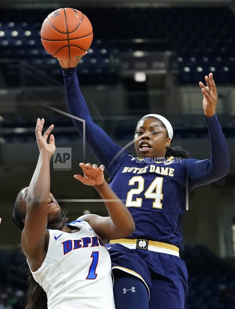 CHICAGO | Young leads No. 1 Notre Dame women past No. 15 DePaul 101-77