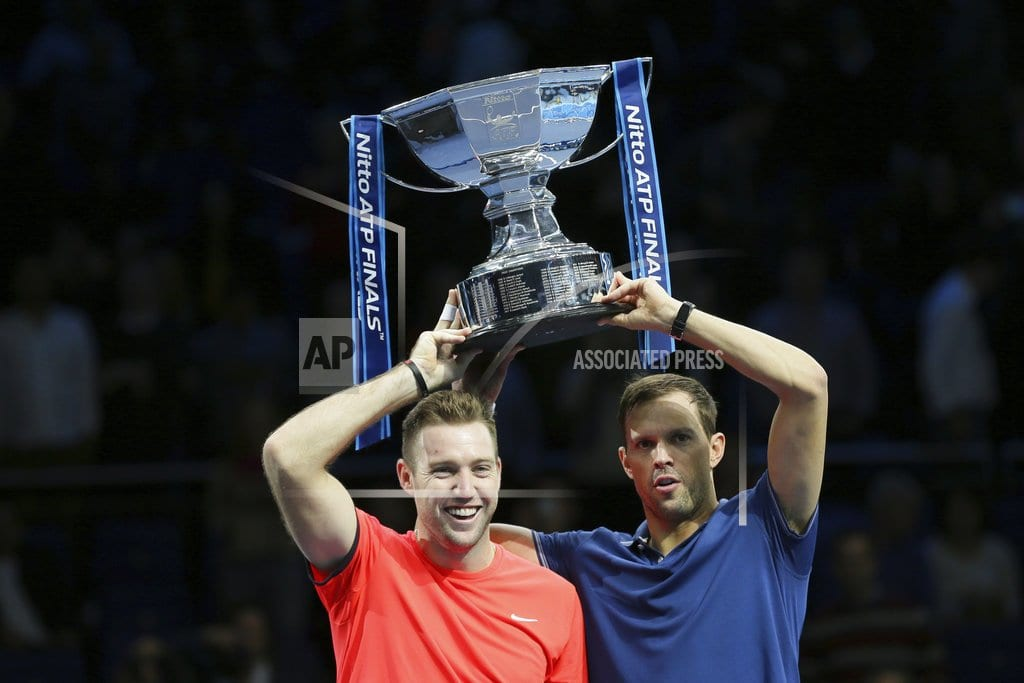 LONDON | Bryan, Sock save match point to win ATP Finals doubles title