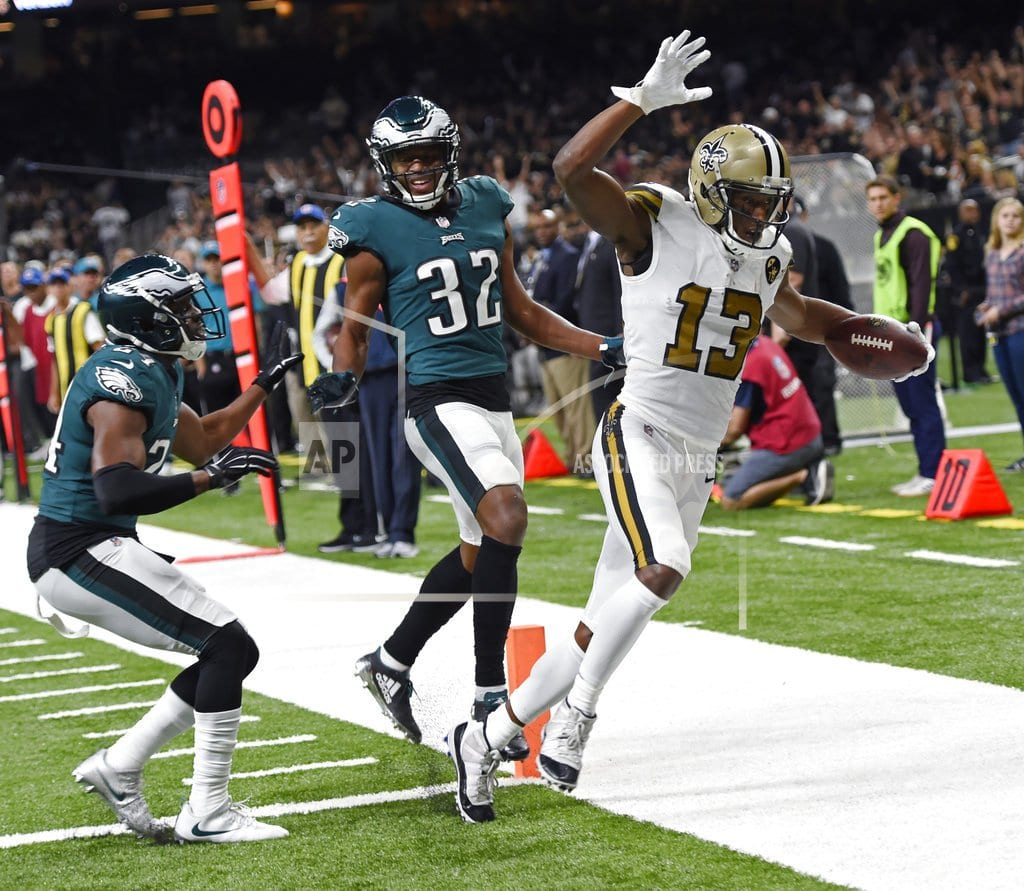 NEW ORLEANS  | Brees, Saints singe sinking Eagles, 48-7