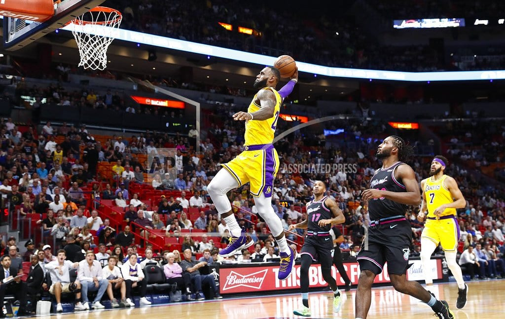 MIAMI | LeBron James scores 51 points, Lakers roll past Heat 113-97