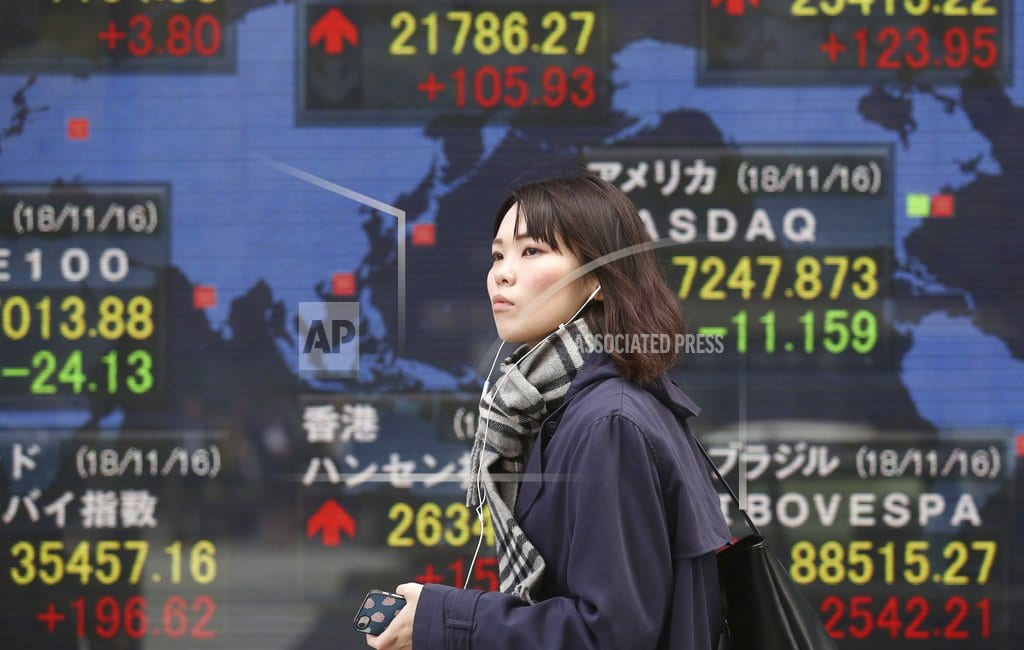 TOKYO | Global shares advance, cheered by Wall Street buying spree
