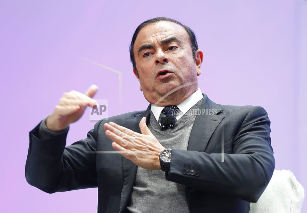 TOKYO | The Latest: Nissan says chairman Ghosn to be dismissed