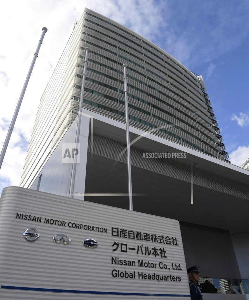 YOKOHAMA, Japan | Nissan chair Ghosn dismissed, held on misconduct charges