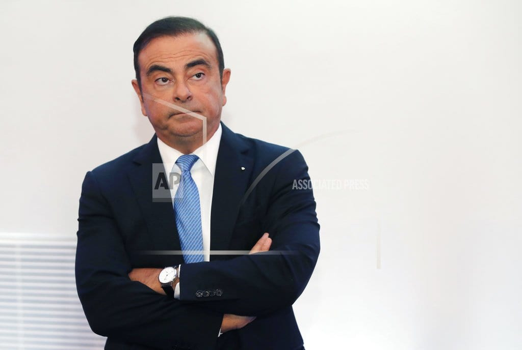 TOKYO | The Latest: Renault shares tank as CEO Ghosn under fire