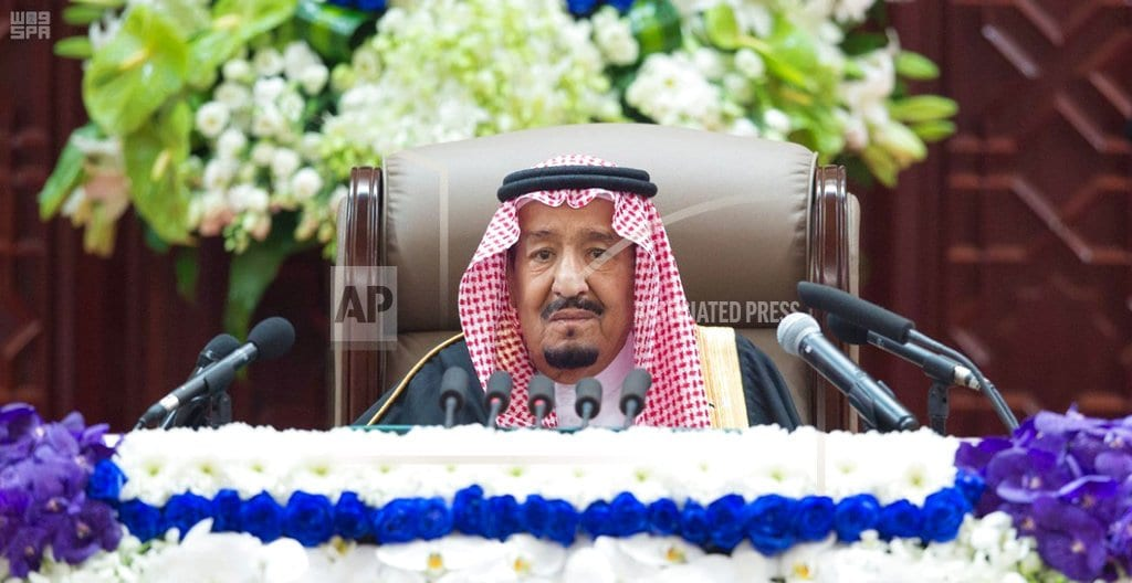 RIYADH, Saudi Arabia | Saudi king's speech makes no mention of slain journalist
