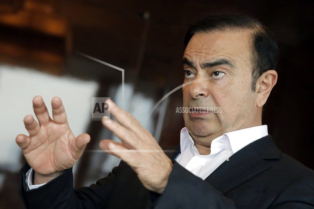 PARIS | Renault board: Ghosn to remain CEO while detained in Japan