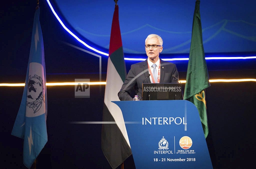 LONDON | The Latest: Russia says critics politicizing Interpol