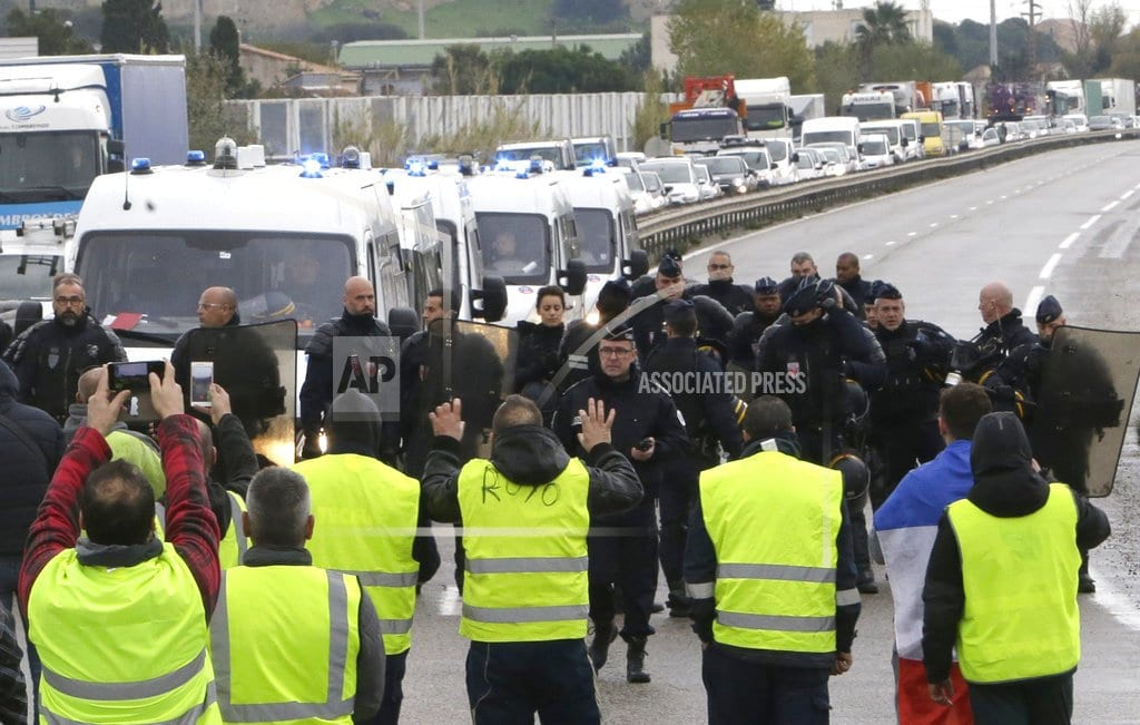 PARIS    Second death in French protests over fuel tax hikes