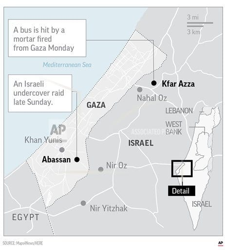 JERUSALEM   The Latest: UN, Egypt working to end Gaza fighting