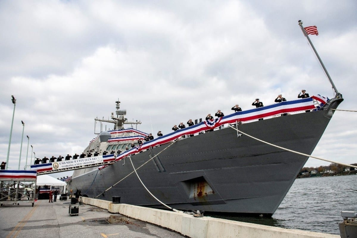 Business News: U.S. Navy Commissions Littoral Combat Ship 11, Sioux City