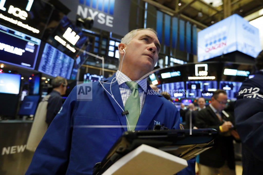 NEW YORK | Markets Right Now: Stocks drop on China concerns, J&J sinks