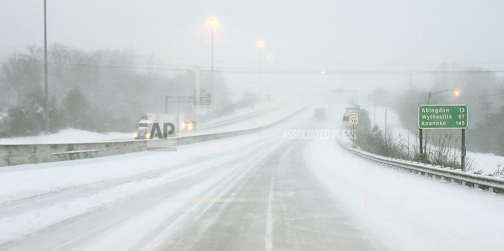 CHARLOTTE, N.C | Winter storm causes icy roads across swath of South