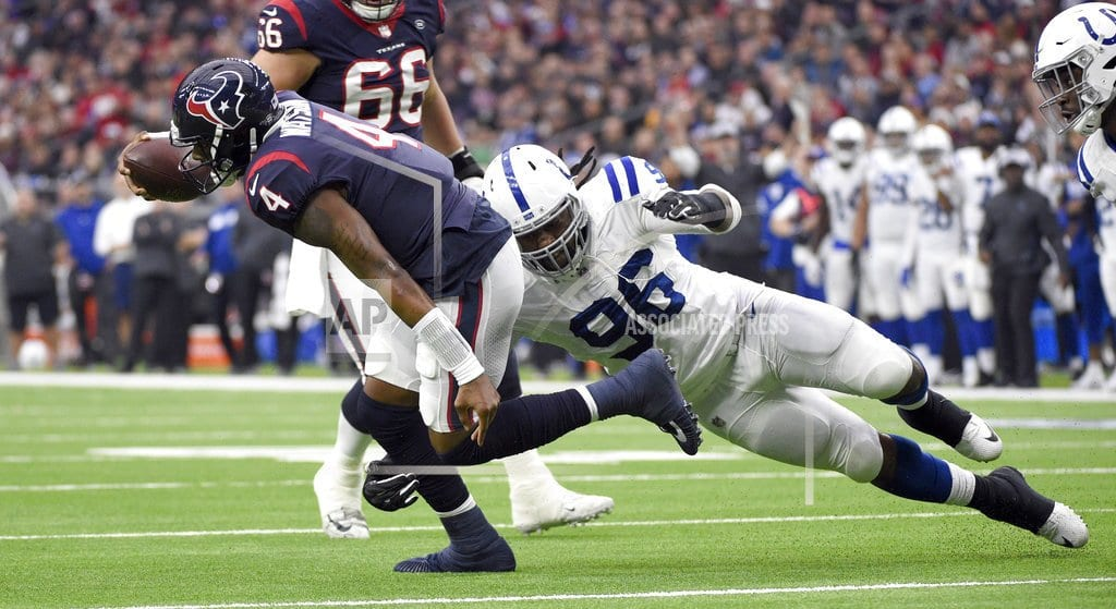 HOUSTON  | Colts snap Texans' 9-game winning streak with 24-21 win