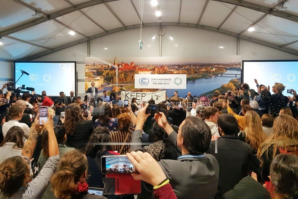 KATOWICE, Poland | Protesters disrupt US fossil fuel event at UN climate talks