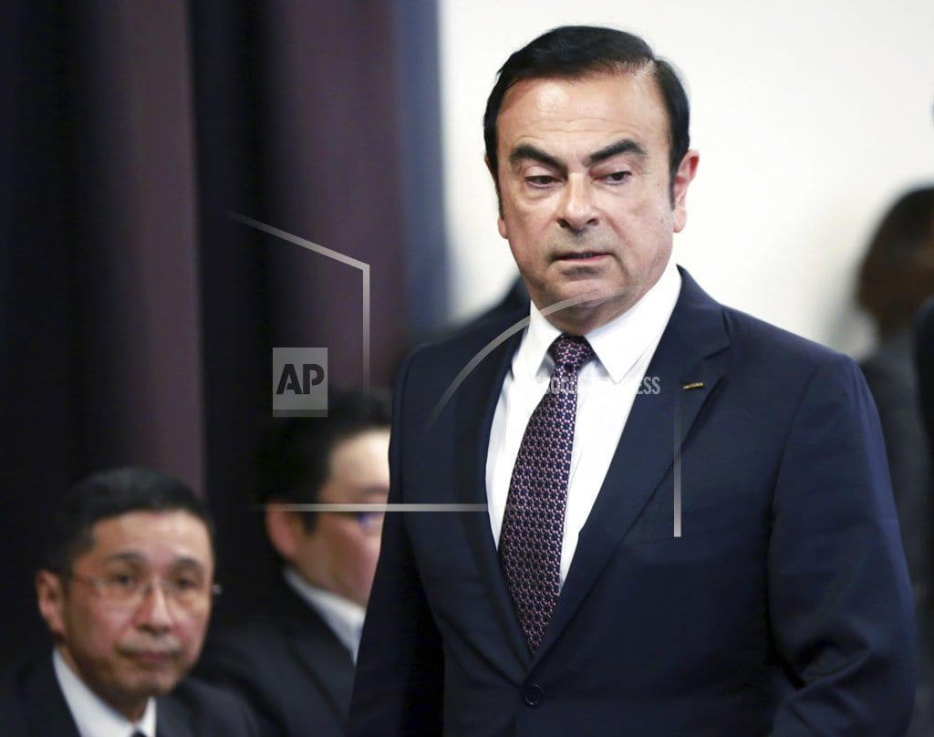 TOKYO  | Nissan to replace chairman arrested on financial charges