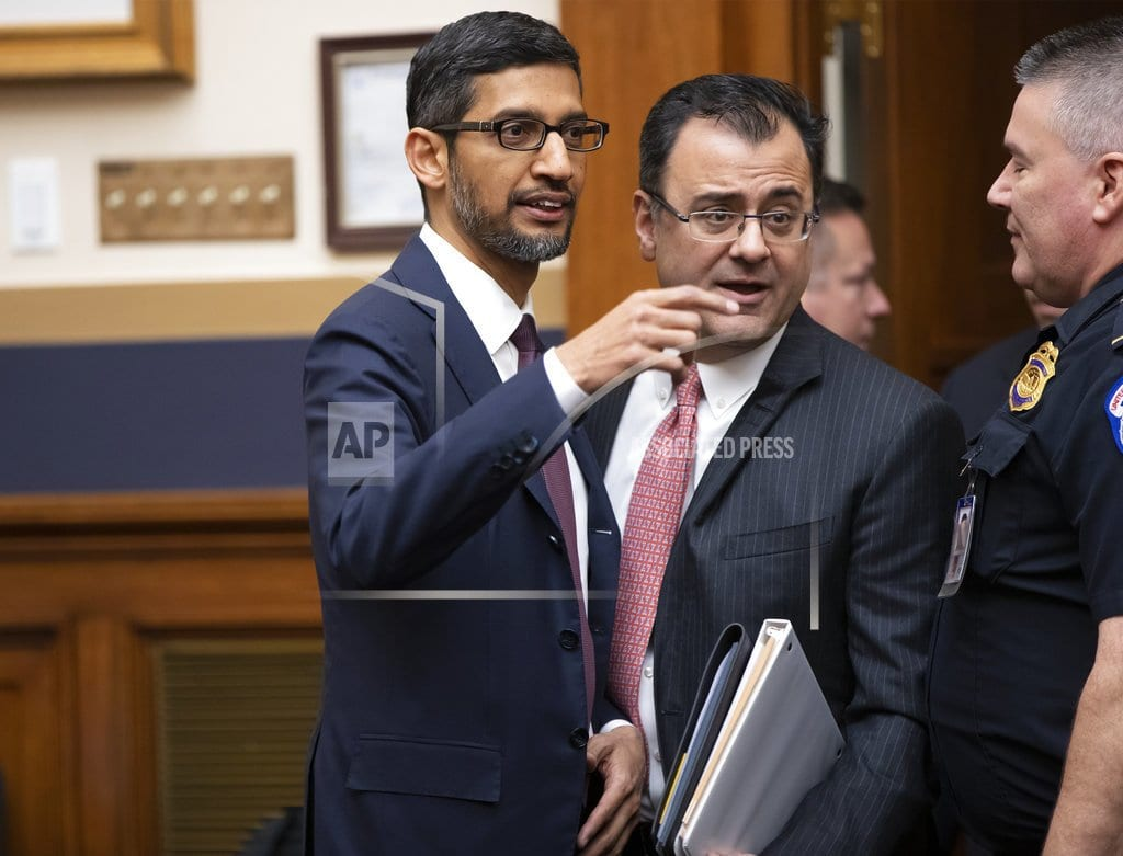 WASHINGTON | The Latest: Google CEO says no plans 'right now' for China