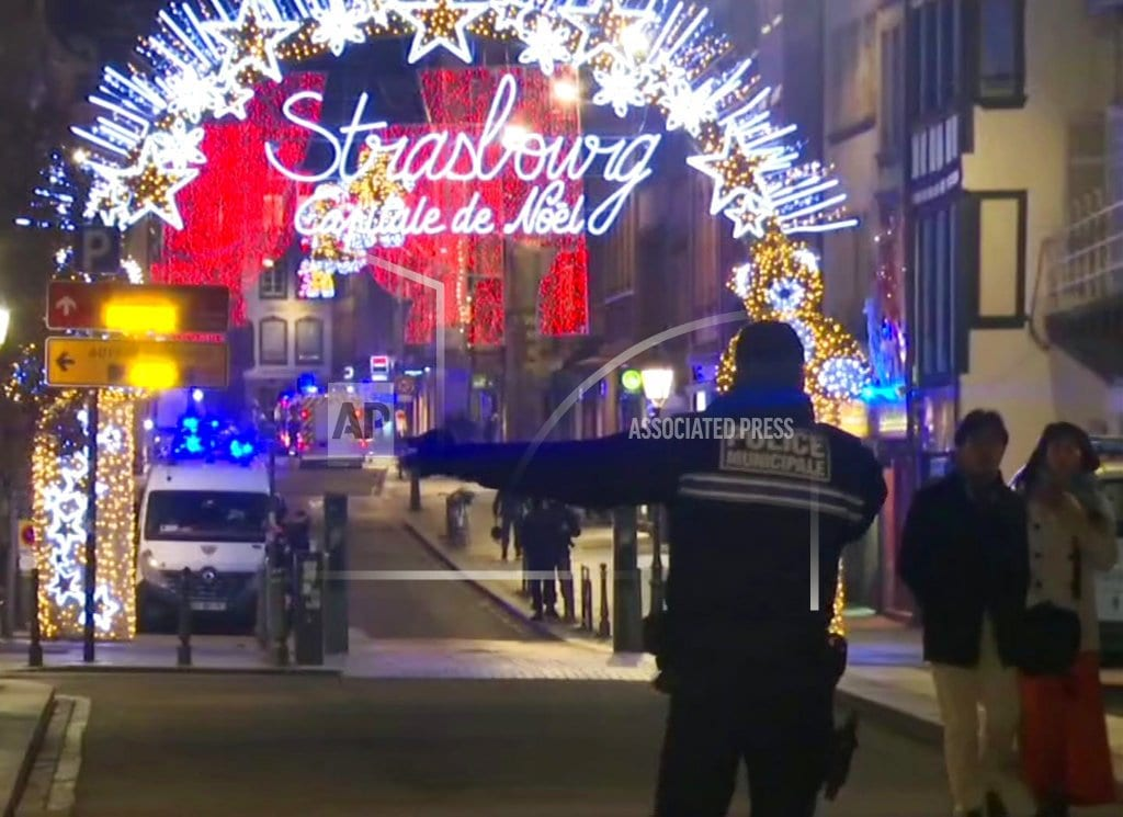 STRASBOURG, France  | Attack near French holiday market kills 3; suspect at large