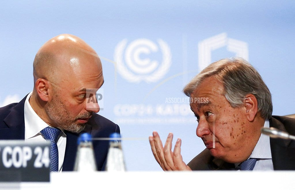 KATOWICE, Poland | The Latest: Diplomat: Consensus near on global warming rules