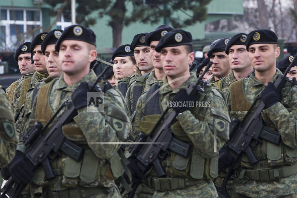 PRISTINA, Kosovo | The Latest: Serbian president visits troops amid tensions