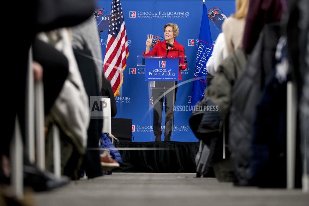 WASHINGTON  | Warren seeks to solidify backing of African Americans
