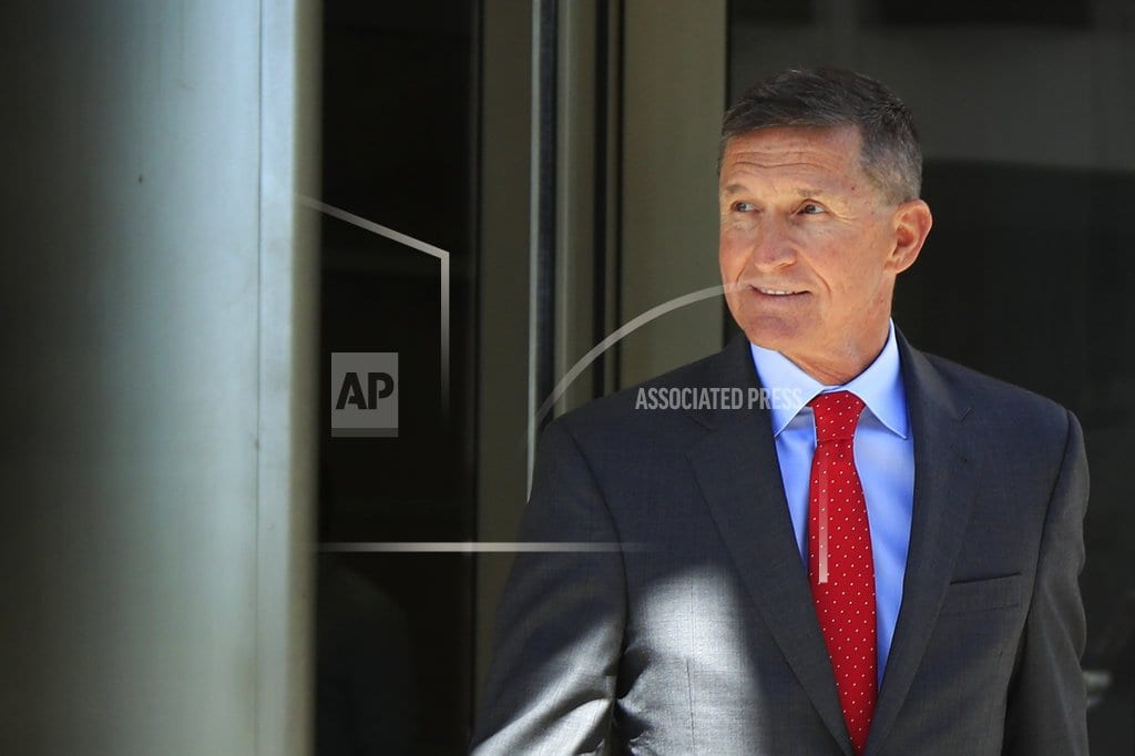 WASHINGTON | Flynn heads to sentencing, with 'Good luck' wish from Trump