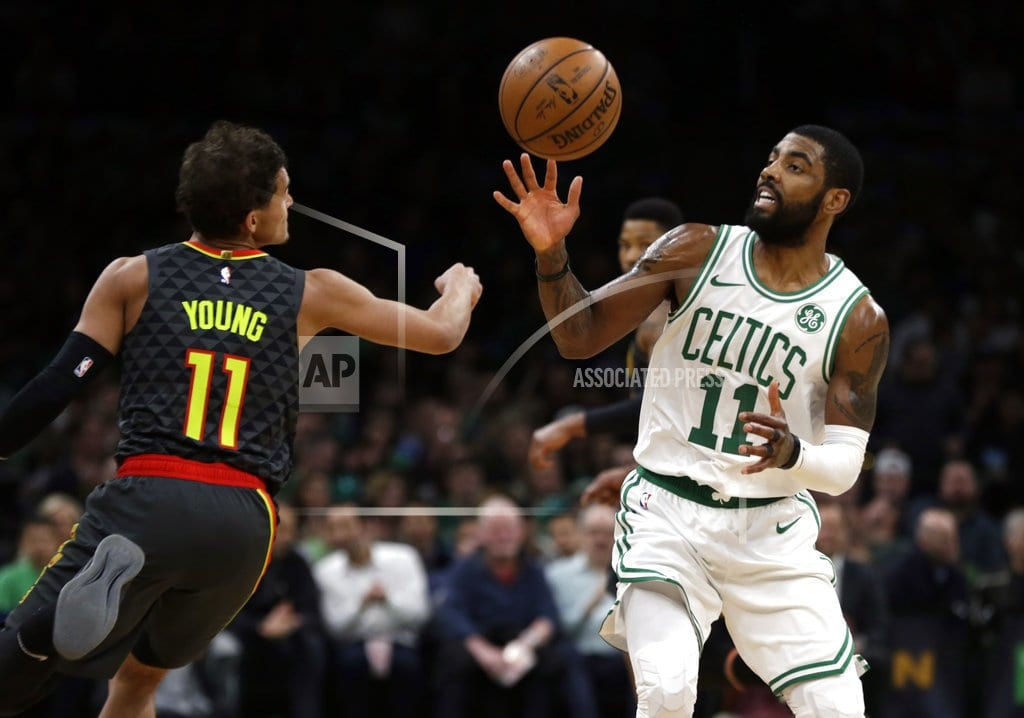 BOSTON  | Kyrie Irving scores 24 points, Celtics beat Hawks 129-108