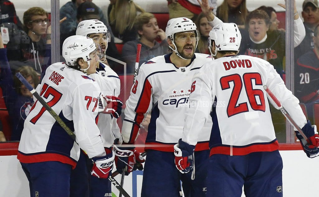 RALEIGH, N.C | Ovechkin, Vrana lead Caps over Hurricanes 6-5 in shootout