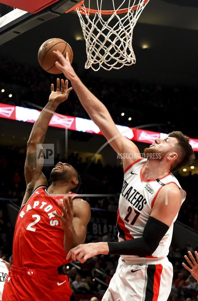 PORTLAND, Ore | Lillard scores 24, Blazers hold off NBA-best Raptors 128-122