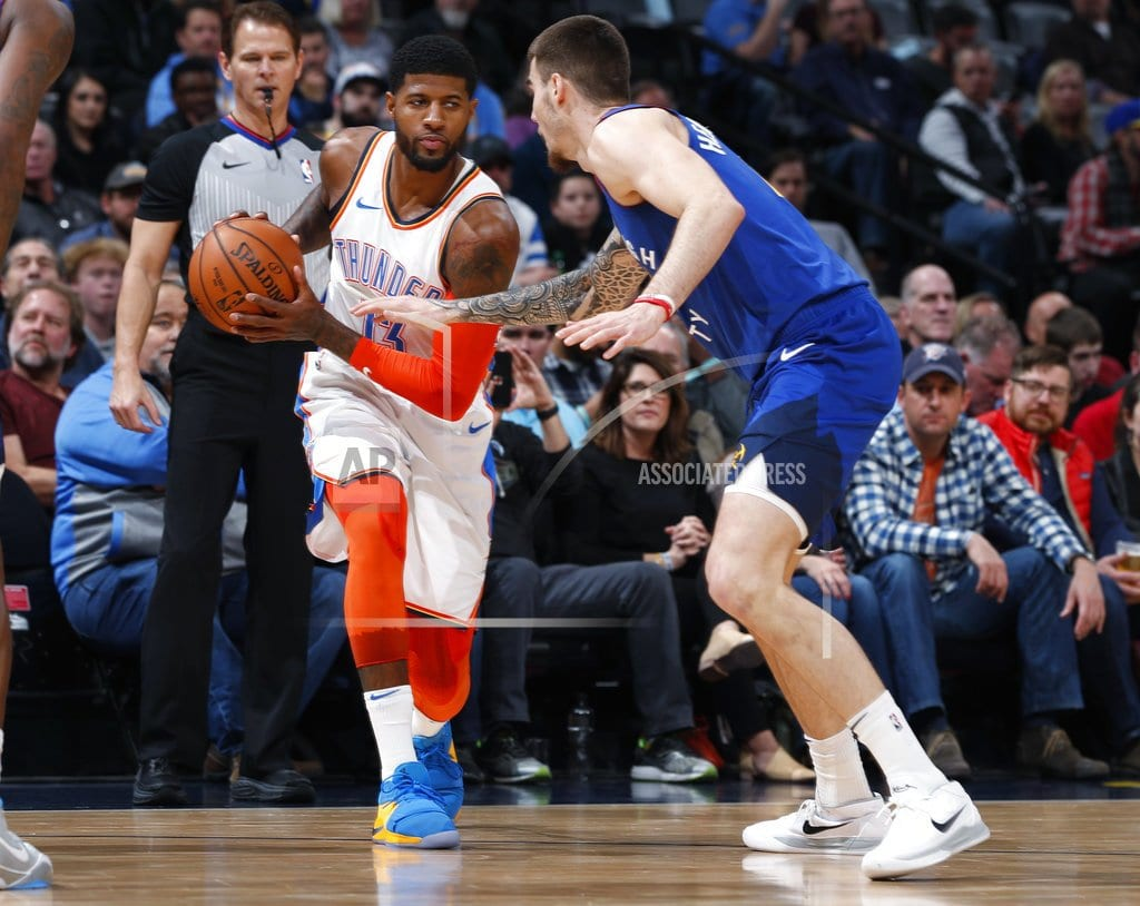 DENVER  | Westbrook, Murray tussle as Nuggets beat Thunder 109-98