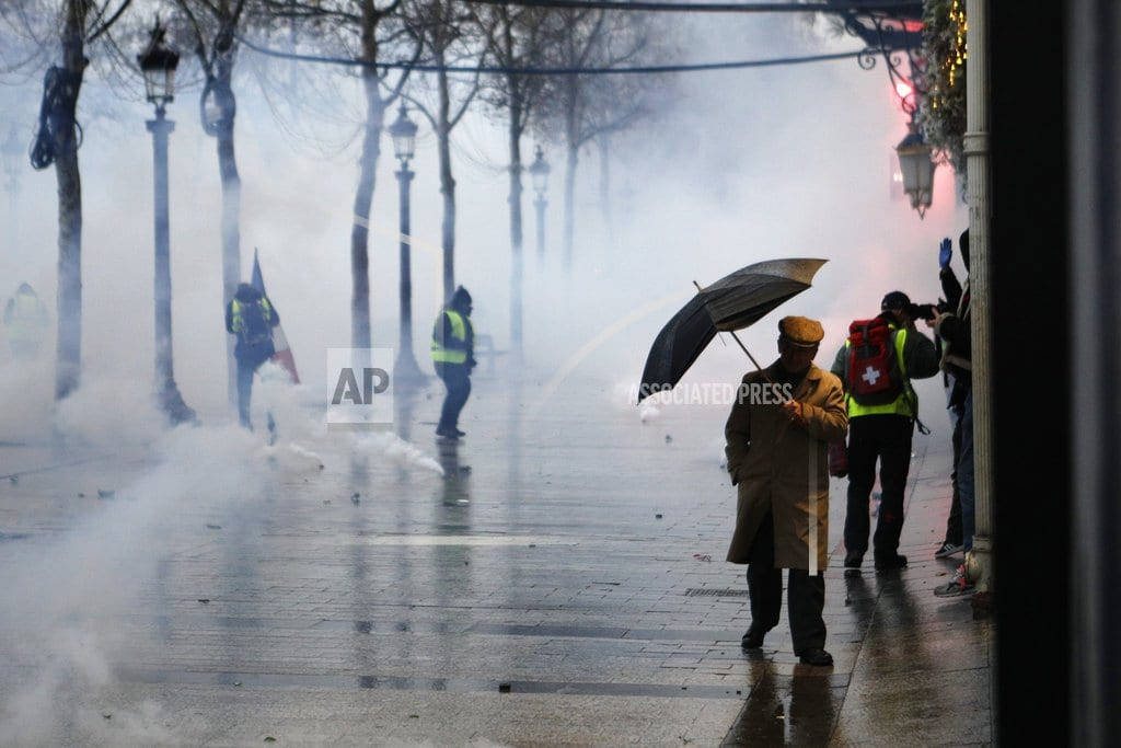 PARIS| The Latest: French police detain 115 people in Paris protest