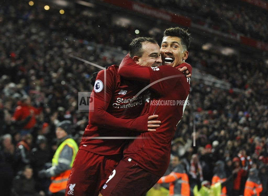 LIVERPOOL, England | Shaqiri double earns Liverpool 3-1 win over Man United