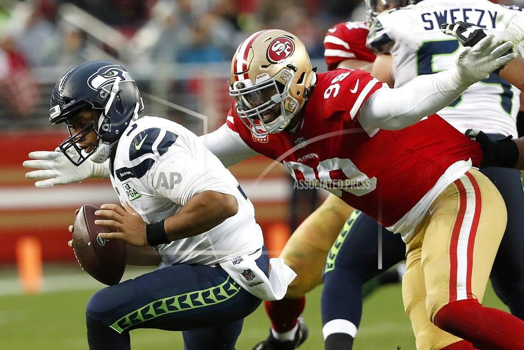 The Latest: 49ers tied with Seahawks in fourth quarter