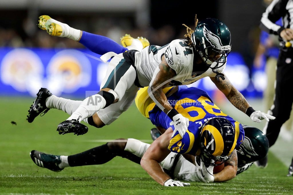 LOS ANGELES | Back in the game: Foles leads Eagles past Rams 30-23
