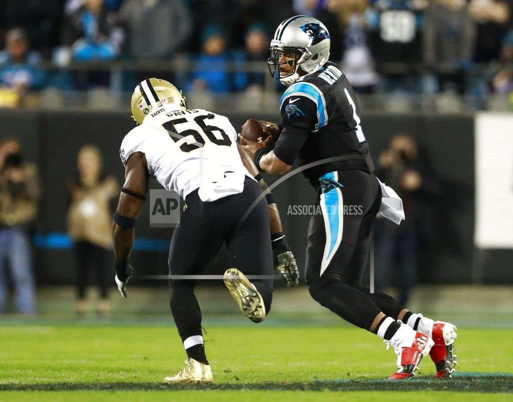 CHARLOTTE, N.C | Saints' D puts clamps on Newton in 12-9 win over Panthers