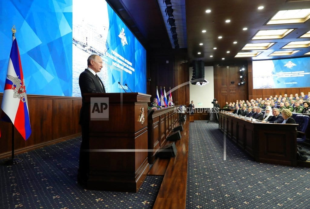 MOSCOW | Putin claims Russia's new weapons have no foreign equivalent