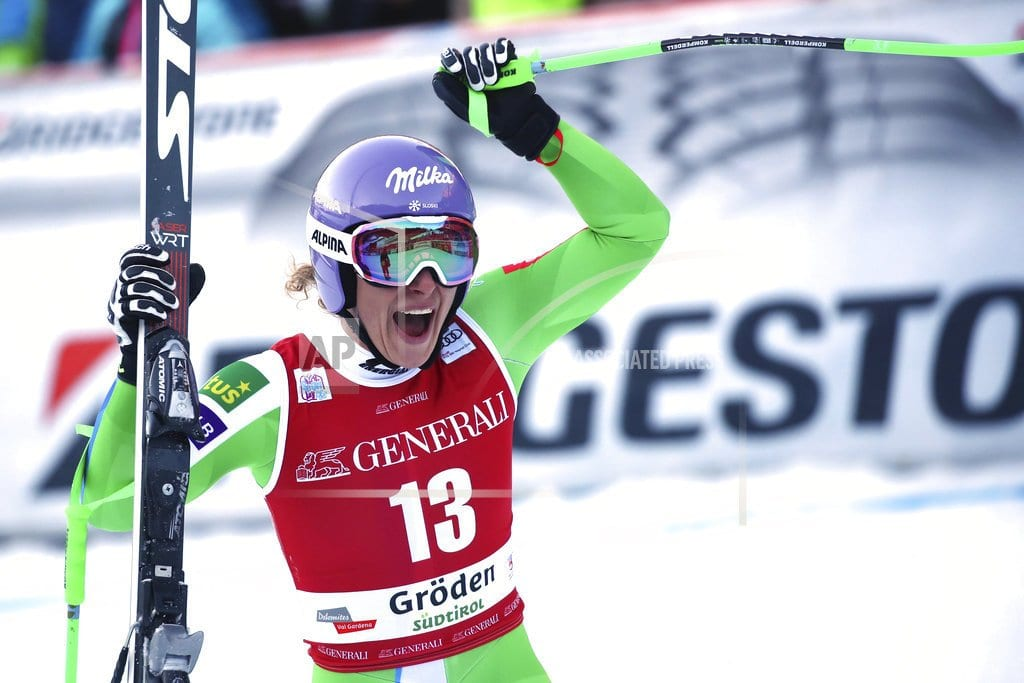 SELVA DI VAL GARDENA, Italy | Stuhec marks return from injury by winning downhill
