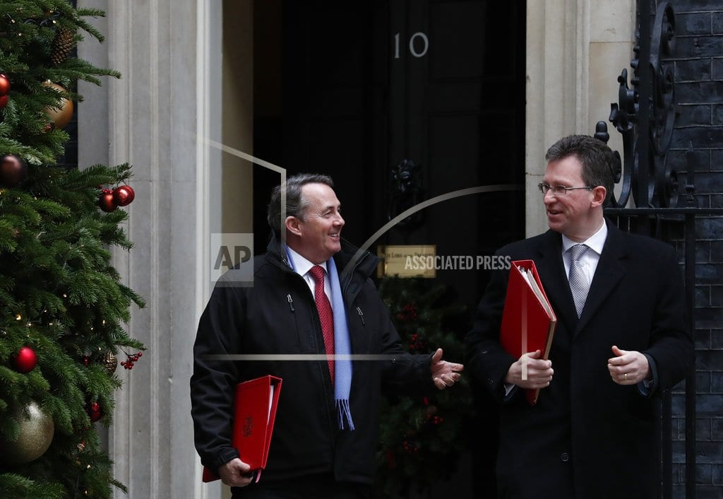 LONDON | The Latest: UK Cabinet backs more 'no-deal' Brexit planning