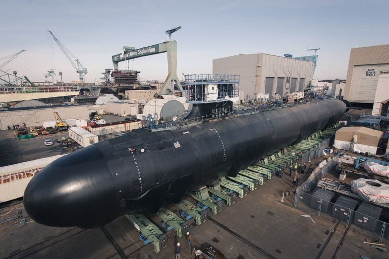 Business News: Delaware (SSN 791) Rollout by Huntington Ingalls Industries