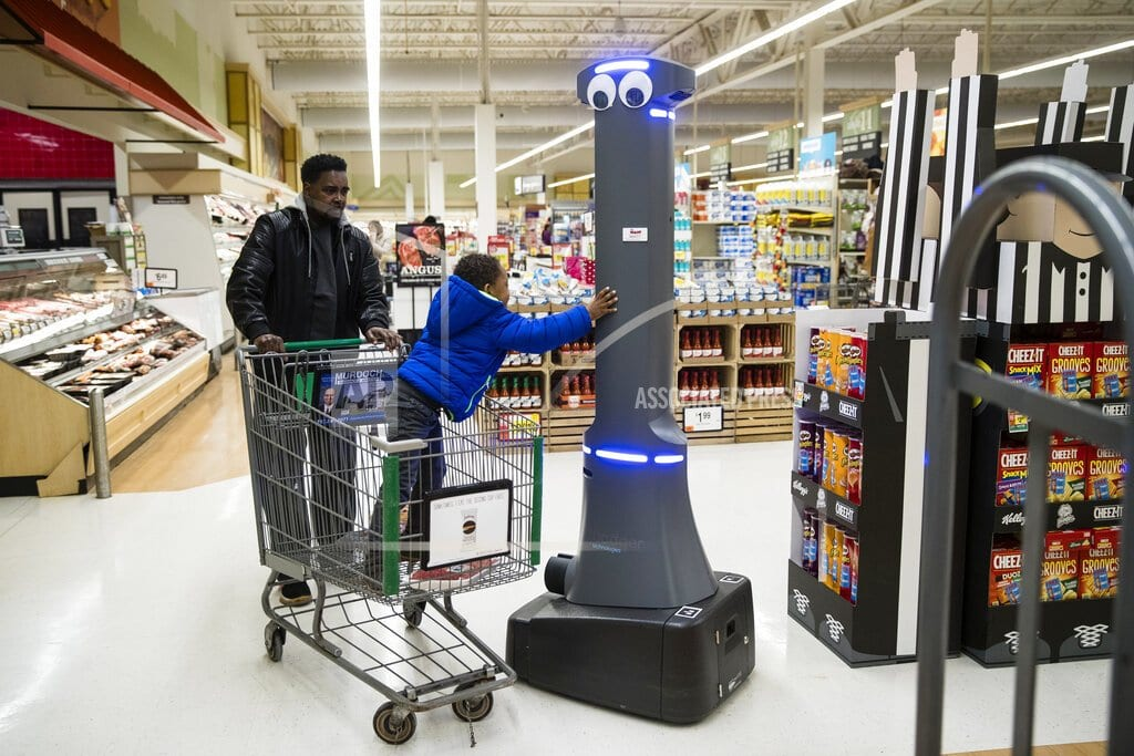 SEEKONK, Mass. | Grocery robots detect spills – with some far-off human help