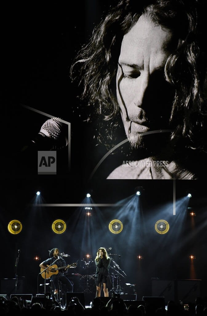 LOS ANGELES | Metallica, Miley Cyrus perform at Chris Cornell tribute